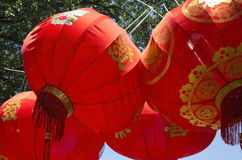 Red lanterns Stock Image