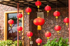 Red lanterns Hanging Decoration Stock Photos