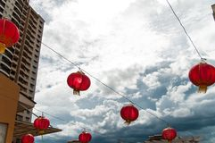 Red lanterns Hanging Decoration Royalty Free Stock Photos