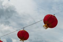 Red lanterns Hanging Decoration Stock Image
