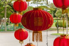 Red lanterns Hanging Decoration Royalty Free Stock Photography