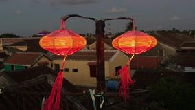 Red lanterns in Hoi An ancient town stock footage