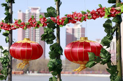 Red Lanterns In New Year Royalty Free Stock Photos