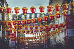 Red Lanterns in London Stock Photography