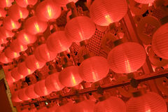 Red lanterns at night for chinese new year Stock Image