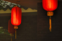 Red Lanterns Of A Tea House Royalty Free Stock Image