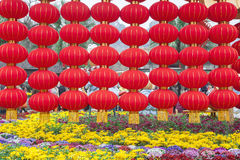 Red lanterns in park Stock Photography