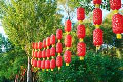 The red lanterns Royalty Free Stock Photo
