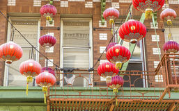 Red lanterns in San Francisco Chinatown Stock Image