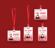 Red lanyard Royalty Free Stock Photography