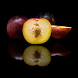 Red large plums; Stock Image
