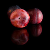 Red large plums; Stock Photography