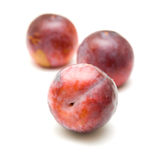 Red large plums Royalty Free Stock Photography