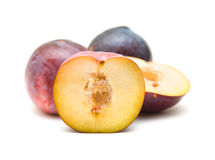 Red large plums Stock Image