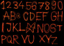 Red laser alphabet Stock Images
