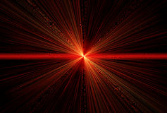 Red laser beams Stock Photo