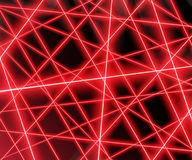 Red laser beams on a black background,eps 10. Royalty Free Stock Photo