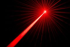 Laser beam light effect. Red laser beams light effect on black background photo Royalty Free Stock Image