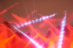 Red laser disco show Royalty Free Stock Image