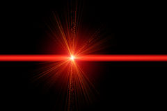 Red laser light. Abstract illustration of a red laser ray vector illustration