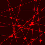Red laser light beam Stock Images