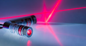 Red laser Stock Image