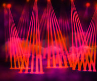 Red Laser Stage Background Stock Photography