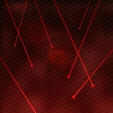 Red Lasers royalty free illustration