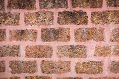 Red laterite brick wall Royalty Free Stock Image