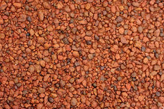 Red laterite gravel for background.  Stock Photo