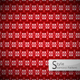 Red lattice arrow geometric seamless pattern vector illustration Royalty Free Stock Photos