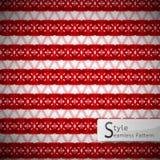 Red lattice bow ribbon vintage geometric seamless pattern vector Stock Photo