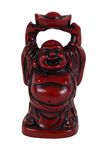 Red laughing Buddha. (Budai or Hotei) figure Stock Photography