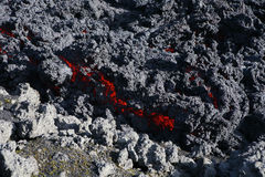 Red lava Stock Image