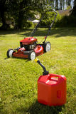 Red Lawn Mower Stock Image
