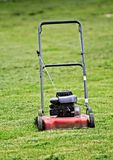 Red lawn mower Royalty Free Stock Image