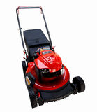 Red Lawn Mower Royalty Free Stock Photos