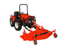 Red lawnmower Royalty Free Stock Image