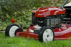 Red Lawnmower Stock Images