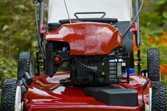 Red Lawnmower Close Royalty Free Stock Image