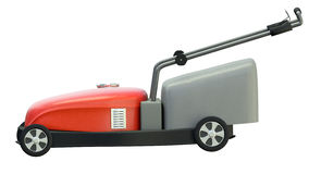 Red lawnmower Stock Photography