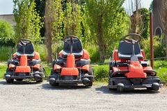 Red Lawnmowers Royalty Free Stock Photography