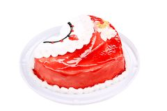 Red layer cake. Stock Images