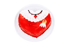 Red layer cake. Stock Image