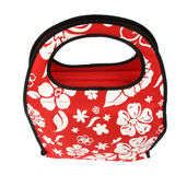 Red layette bag with zip Royalty Free Stock Photo