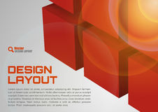 Red Layout Royalty Free Stock Photo