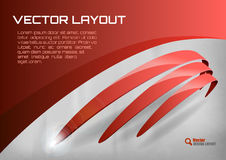 Red Layout Royalty Free Stock Photography