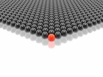 Red leader of balls group Royalty Free Stock Photo