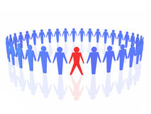 Red leader in business stock illustration