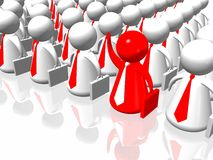 Red leader and business team Royalty Free Stock Images
